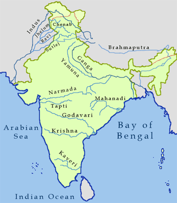 five main rivers of india