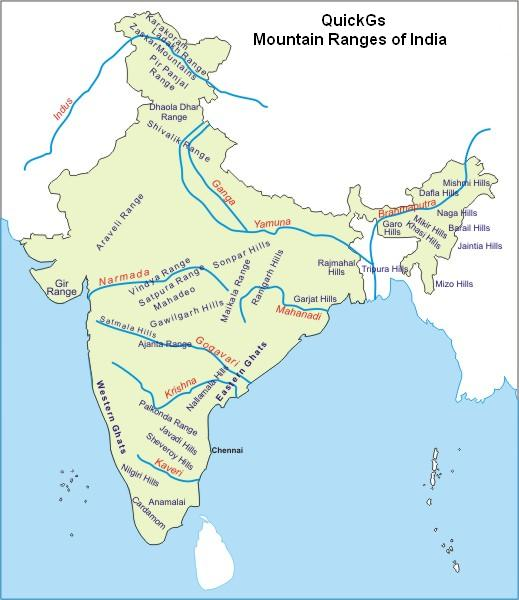 mountain ranges of india
