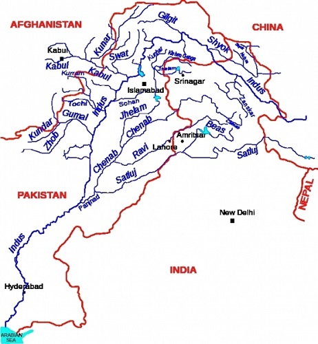 List Of Indian Rivers And Their Origin Tributaries QuickGScom - Ap rivers map