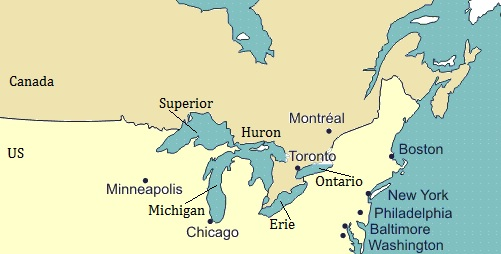 10 Largest Lakes Of World North American Map