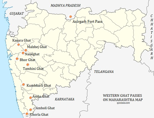 Mountain Passes of Deccan Plateau, Eastern, Western Ghats ...
