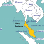 Malay Peninsula on World Map, Related Countries, Islands